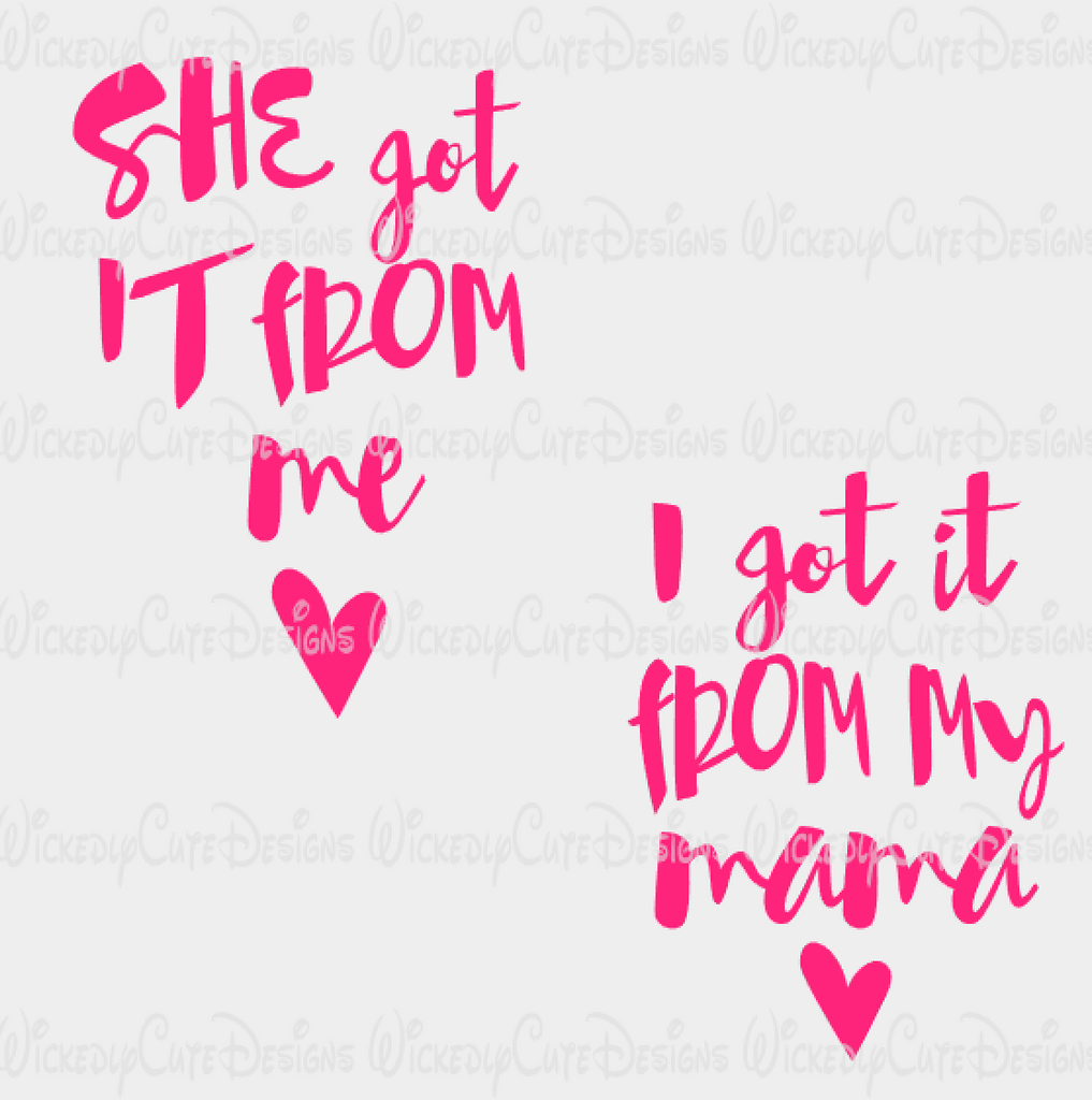 From Mama From Me SVG, DXF, EPS, PNG Digital File