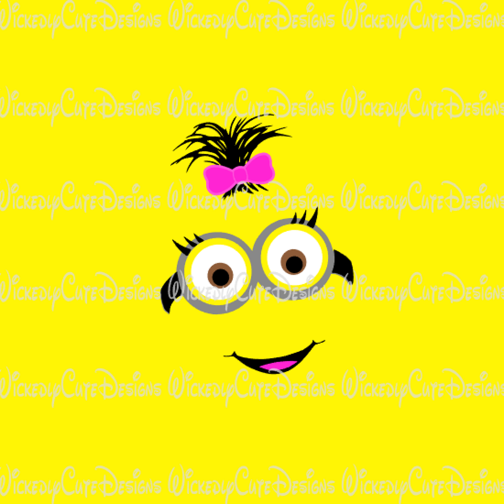 Girl Minion Face SVG, DXF, EPS, PNG Digital File
