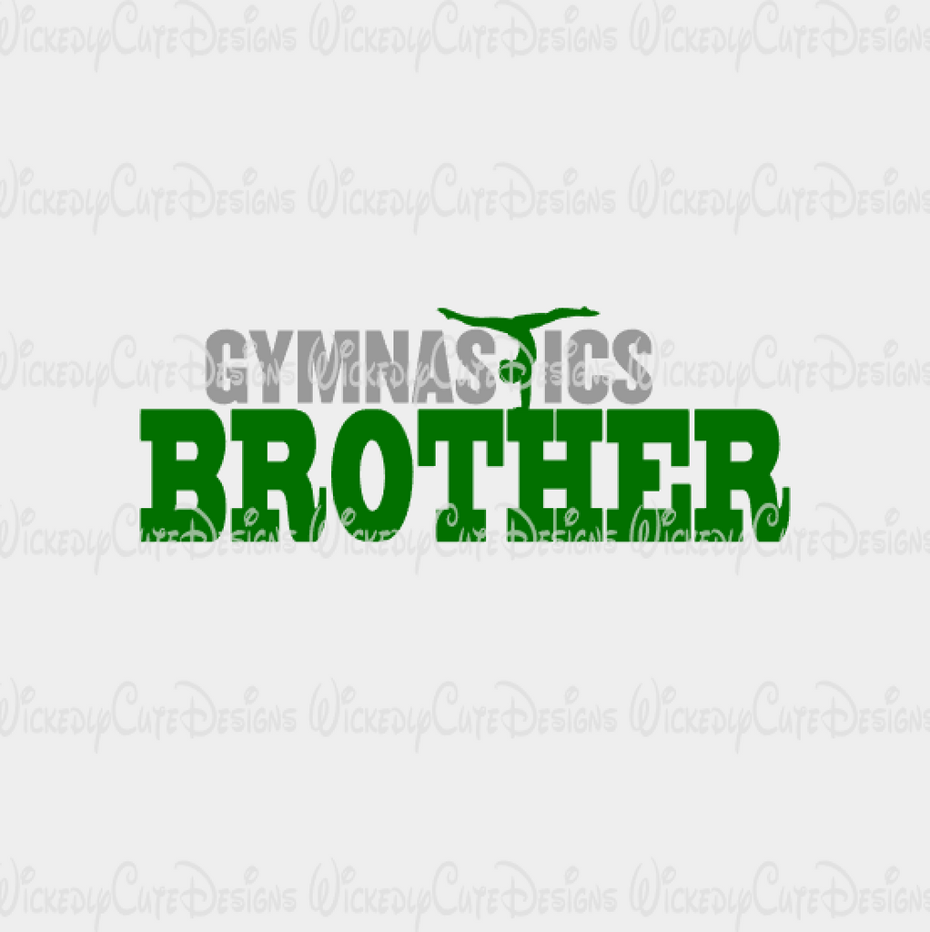 Gymnastics Brother SVG, DXF, EPS, PNG Digital File