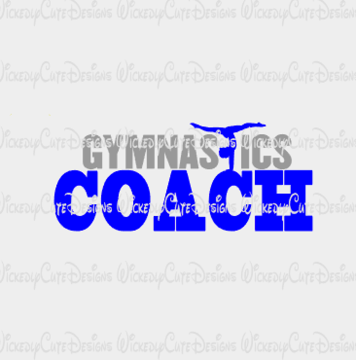 Gymnastics Coach SVG, DXF, EPS, PNG Digital File
