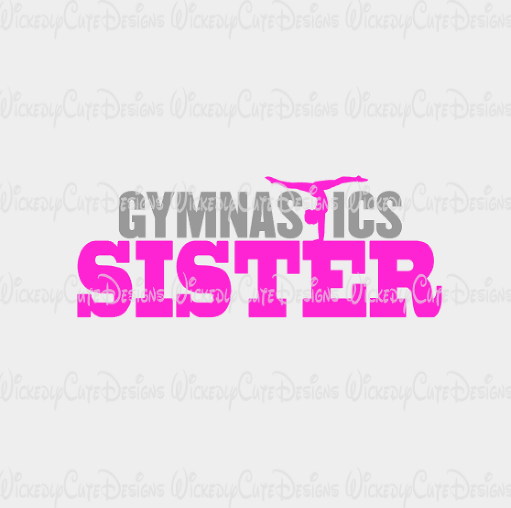 Gymnastics Sister SVG, DXF, EPS, PNG Digital File
