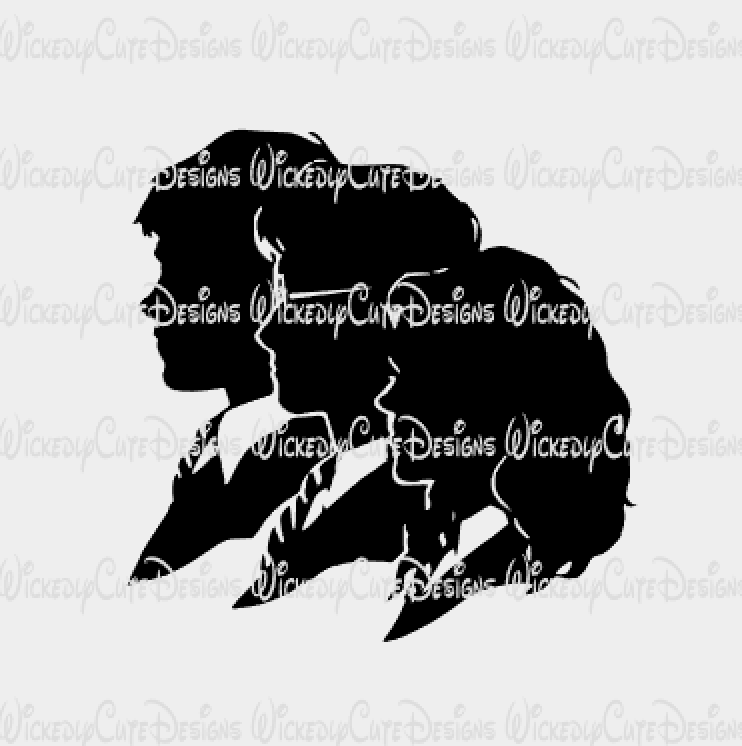 HP Ron Harry Hermoine SVG, DXF, EPS, PNG Digital File