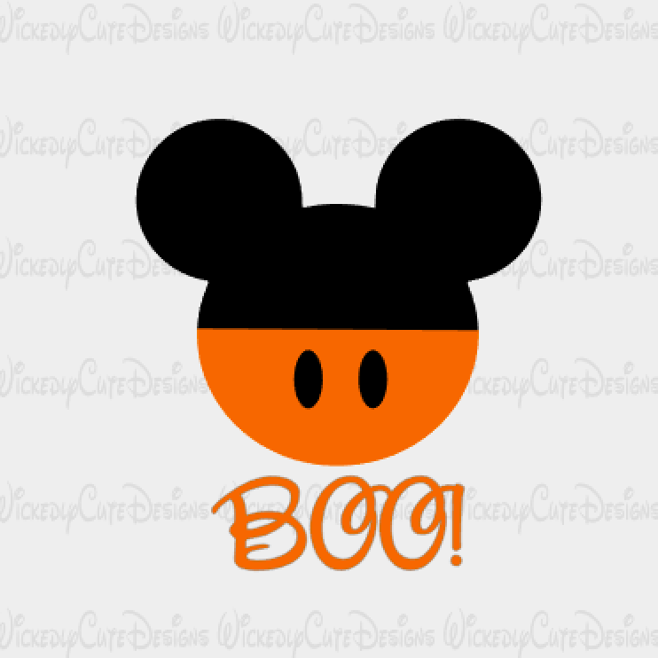 Halloween Mickey Mouse Head SVG, DXF, EPS, PNG Digital File