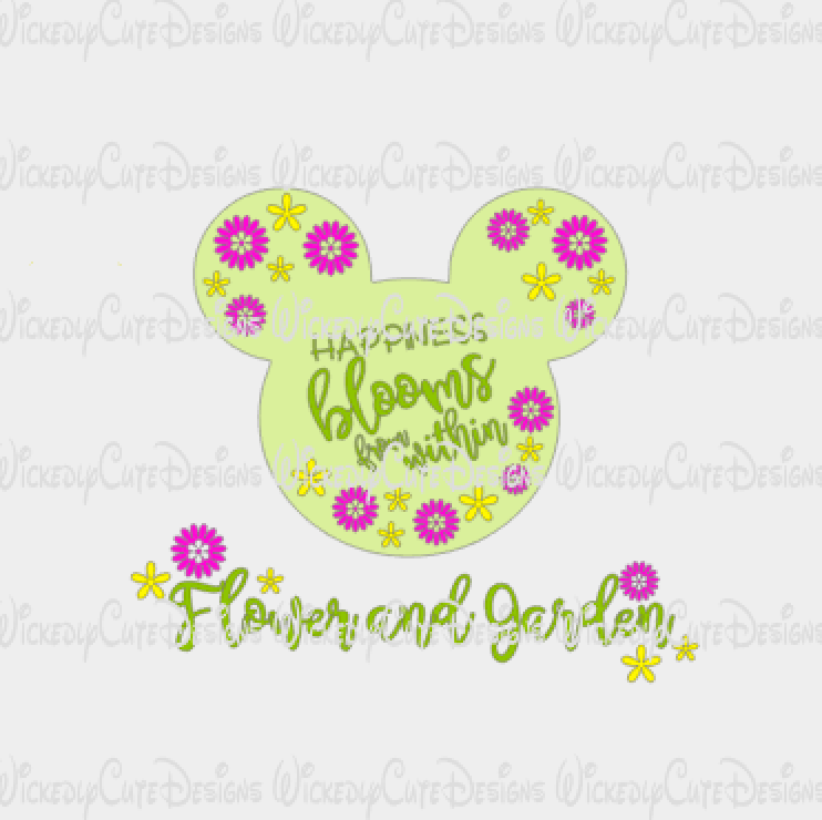 Happiness Blooms From Within SVG, DXF, EPS, PNG Digital File