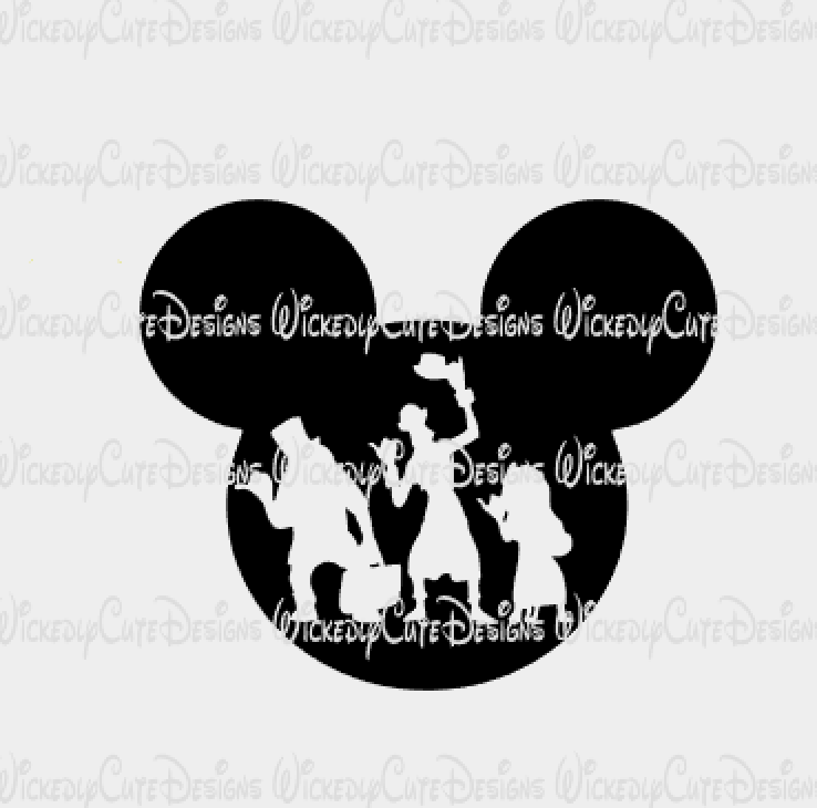 Haunted Mansion Mickey Mouse Head SVG, DXF, EPS, PNG Digital File