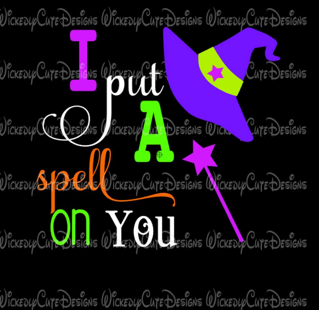 I Put A Spell on You SVG, DXF, EPS, PNG Digital File