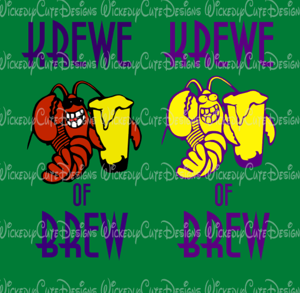 Krewe of Brew SVG, DXF, EPS, PNG Digital File