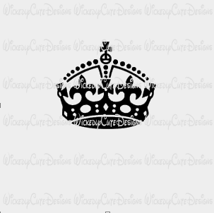 Keep Calm Crown SVG, DXF, EPS, PNG Digital File