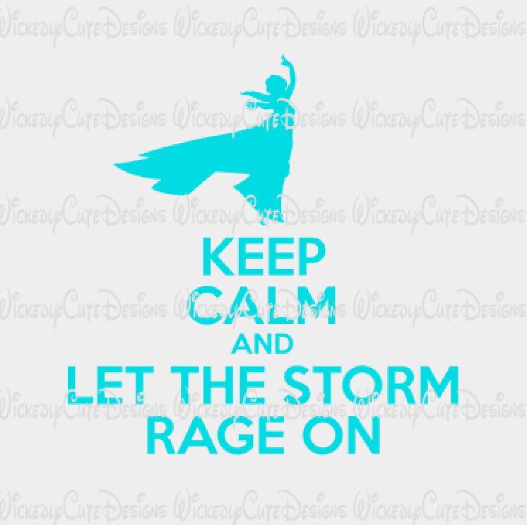Keep Calm Elsa SVG, DXF, EPS, PNG Digital File