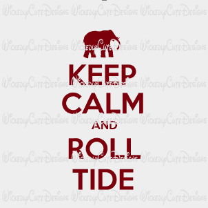 Keep Calm Roll Tide SVG, DXF, EPS, PNG Digital File
