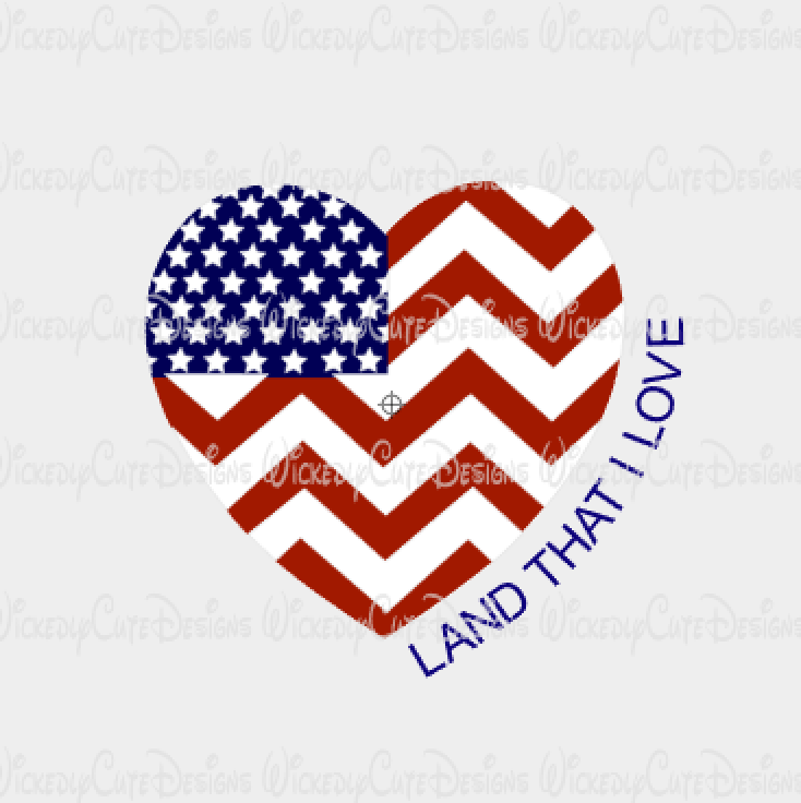 Land That I Love SVG, DXF, EPS, PNG Digital File