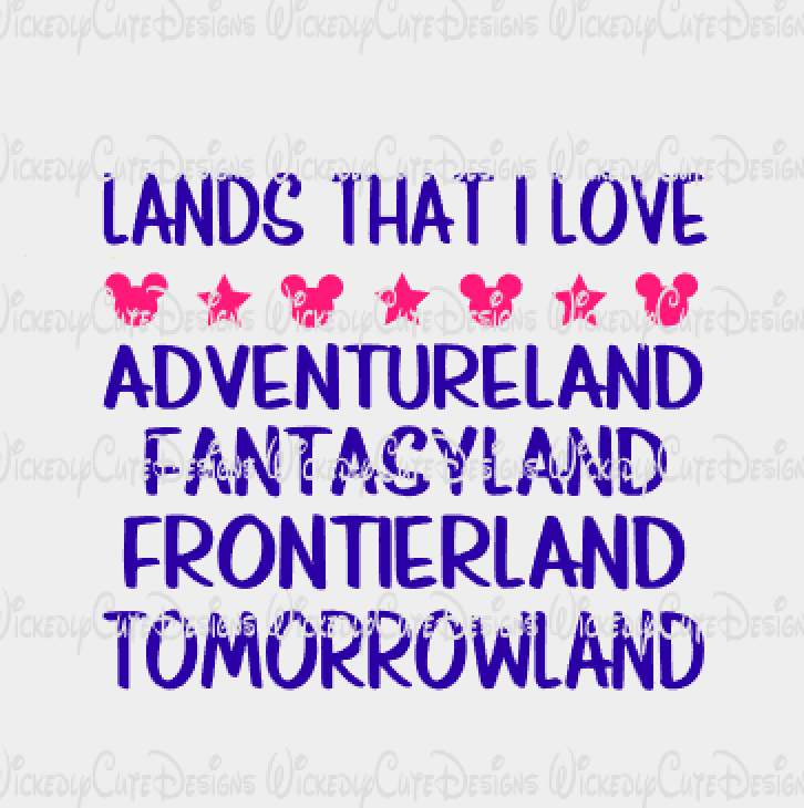 Lands That I Love SVG, DXF, EPS, PNG Digital File
