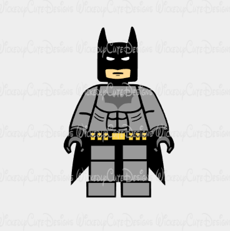 Lego Batman 2 SVG, DXF, EPS, PNG Digital File