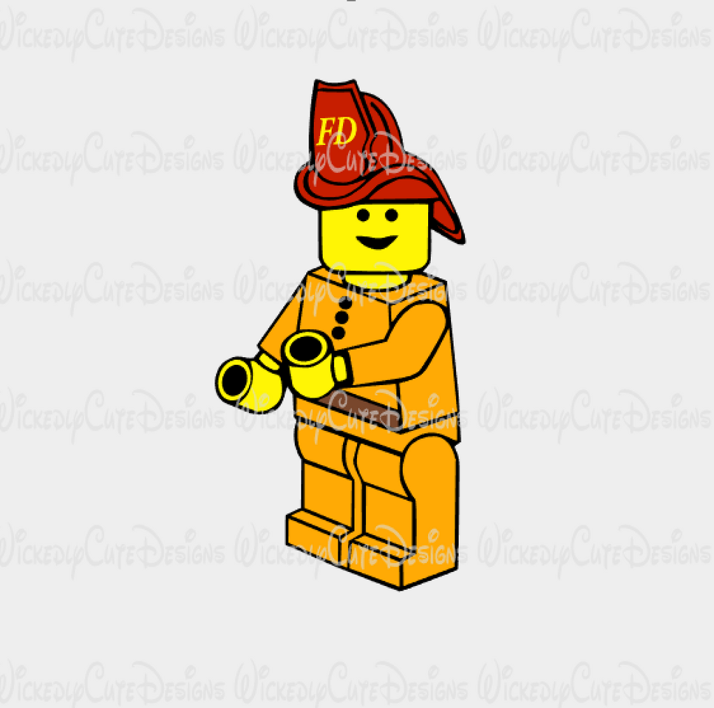 Lego Fireman SVG, DXF, EPS, PNG Digital File