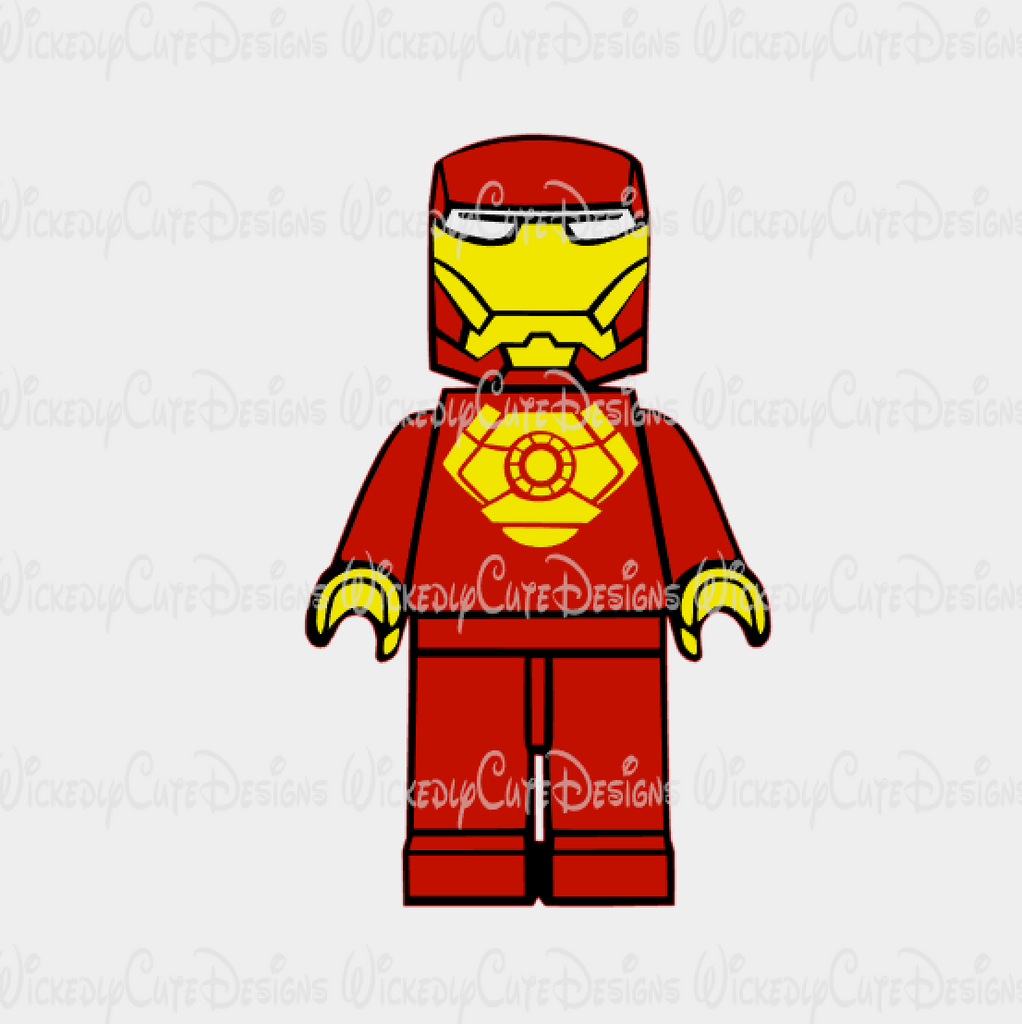 Lego Ironman SVG, DXF, EPS, PNG Digital File