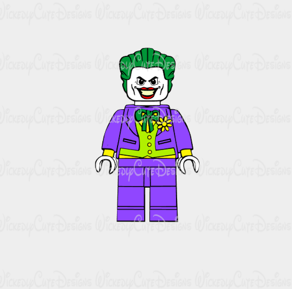 Lego Joker SVG, DXF, EPS, PNG Digital File