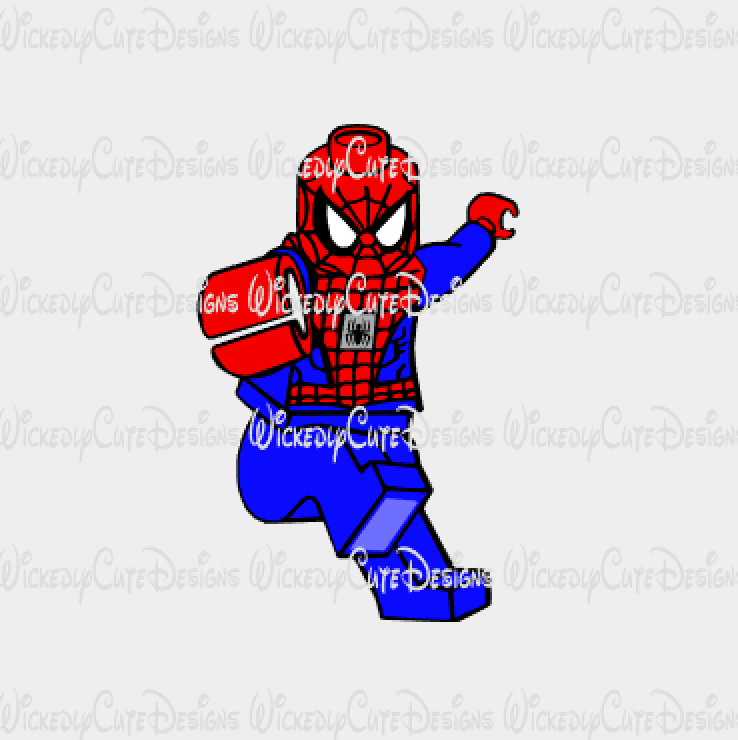 Lego Spiderman SVG, DXF, EPS, PNG Digital File