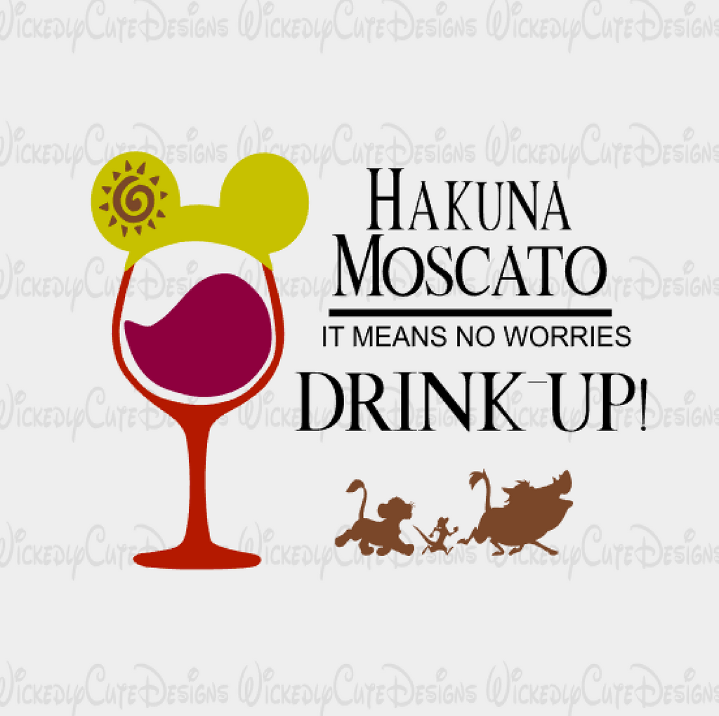Lion King Wine Glass 2 SVG, DXF, EPS, PNG Digital File