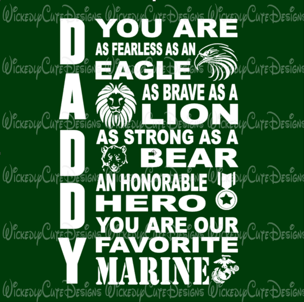MARINE DADDY SVG, DXF, EPS, PNG Digital File