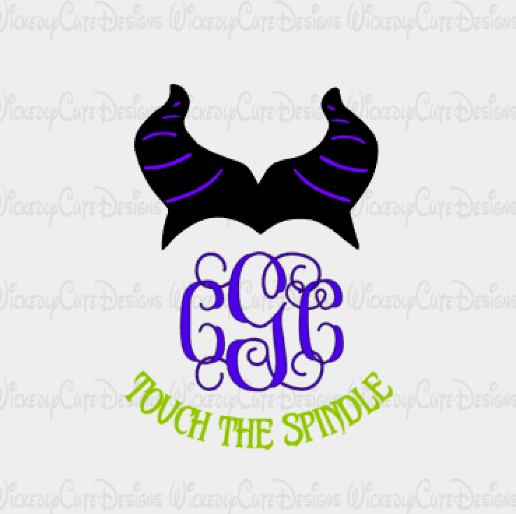 Maleficient Monogram Frame SVG, DXF, EPS, PNG Digital File