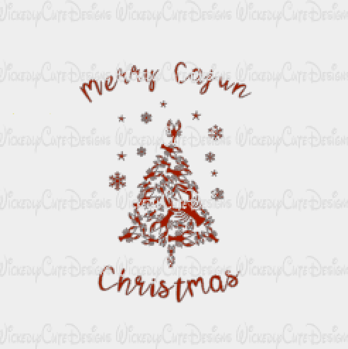 Merry Cajun Christmas SVG, DXF, EPS, PNG Digital File