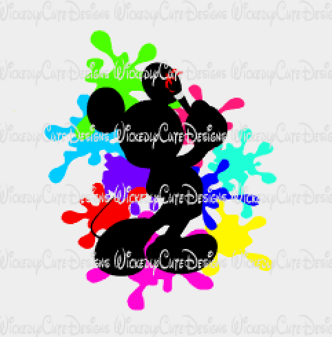 Mickey the Artist SVG, DXF, EPS, PNG Digital File