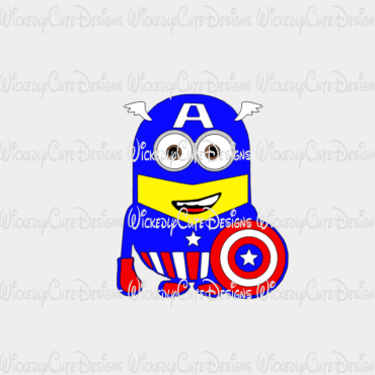 Minion Captain America SVG, Studio3, EPS, PNG Digital File