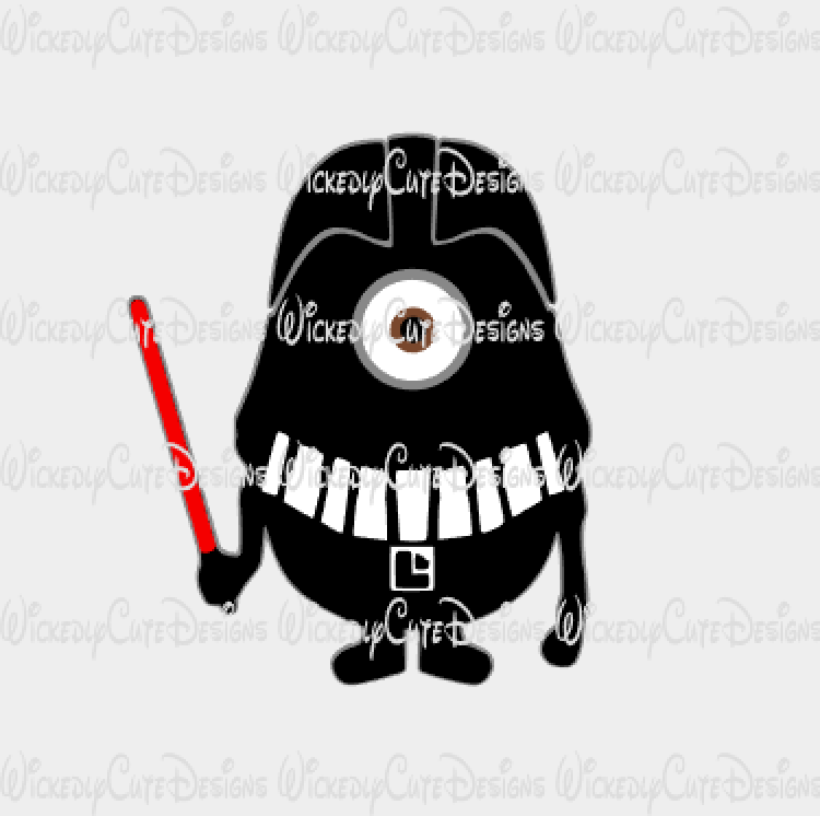 Minion Darth Vadar SVG, Studio3, EPS, PNG Digital File