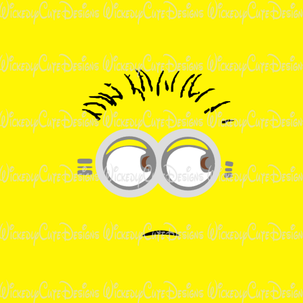 Minion Face SVG, DXF, EPS, PNG Digital File