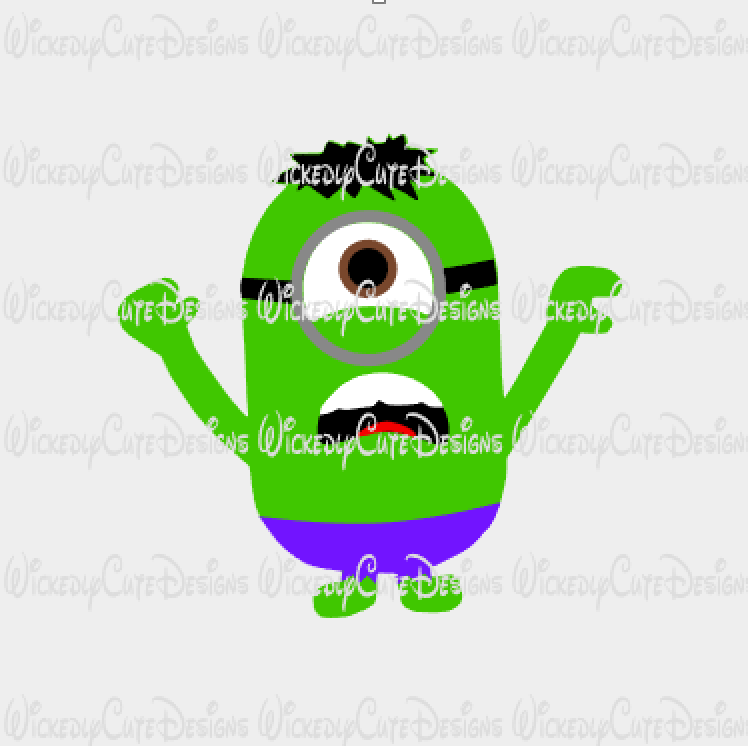Minion Hulk SVG, Studio3, EPS, PNG Digital File