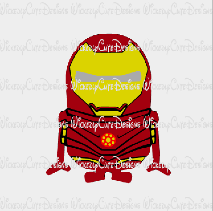 Minion Ironman SVG, Studio3, EPS, PNG Digital File
