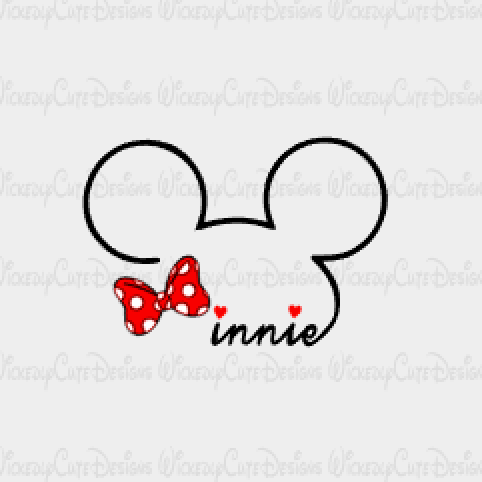 Minnie SVG, DXF, EPS, PNG Digital File