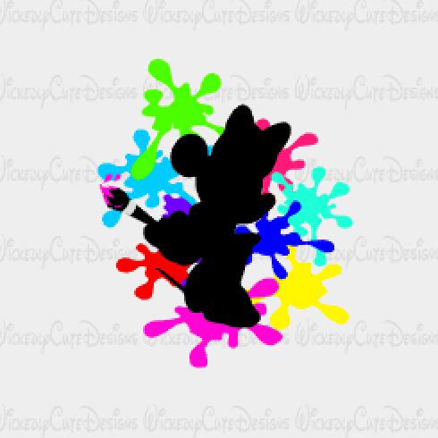 Minnie the Artist SVG, DXF, EPS, PNG Digital File