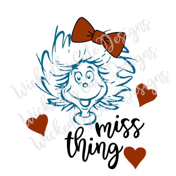 Miss Thing SVG, DXF, EPS, PNG Digital File