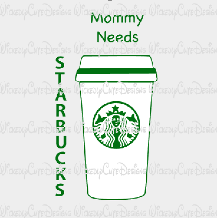 Mommy Needs Coffee SVG, DXF, EPS, PNG Digital File