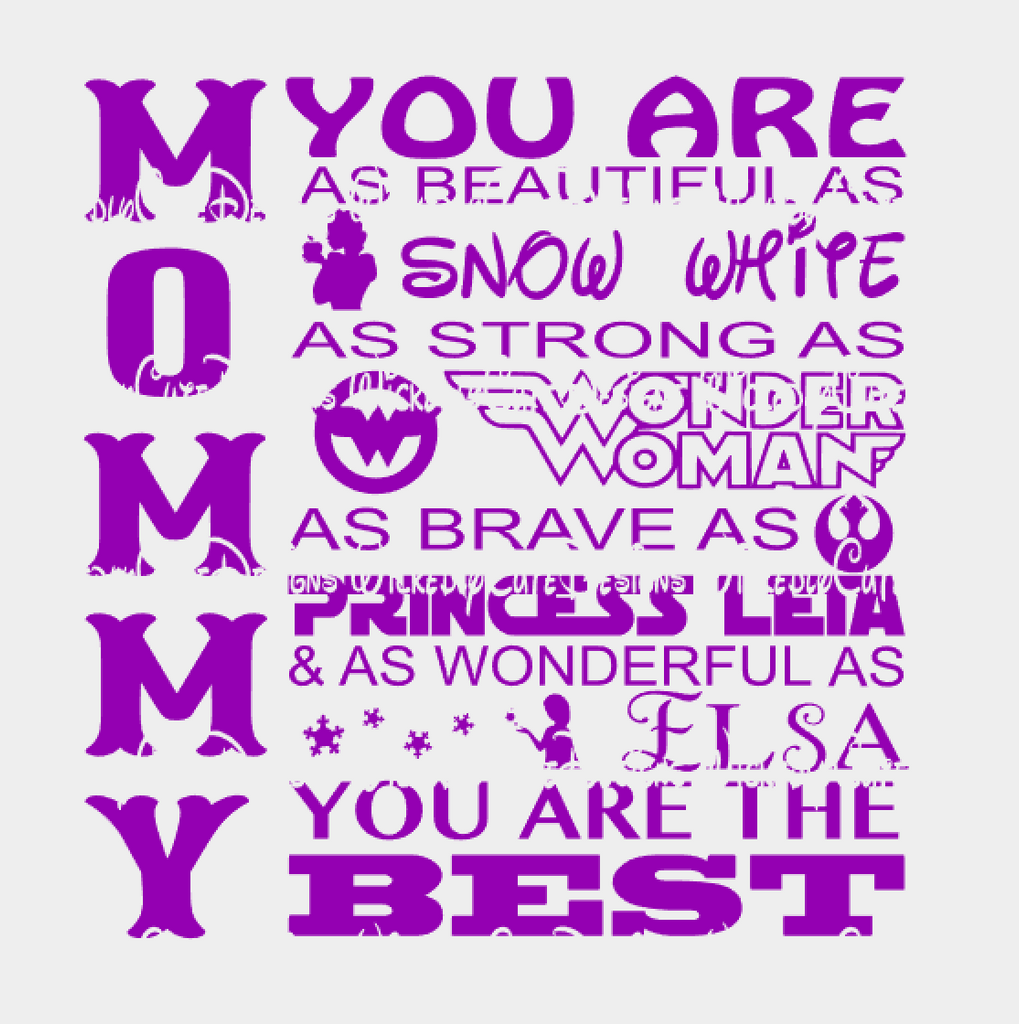 Mommy You Are SVG, DXF, EPS, PNG Digital File