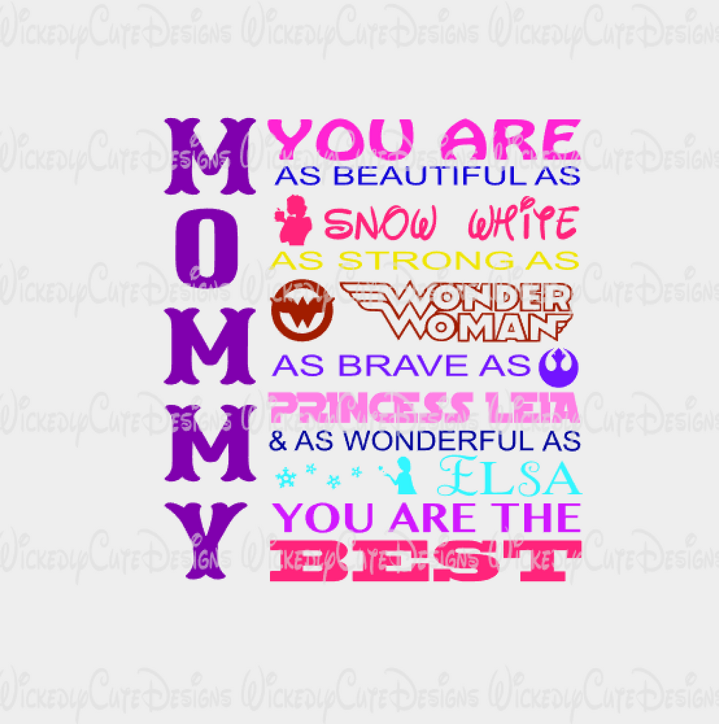 Mommy You Are Color SVG, DXF, EPS, PNG Digital File