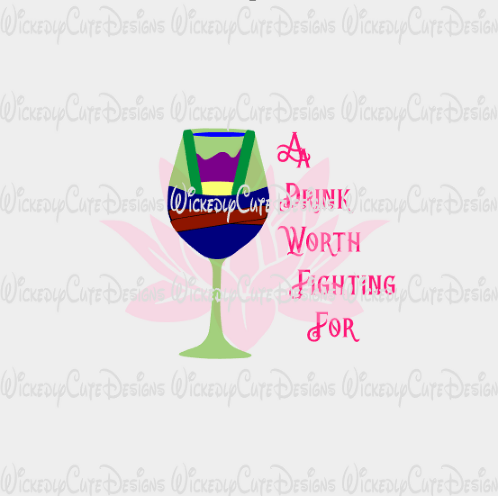 Mulan Wine Glass SVG, DXF, EPS, PNG Digital File