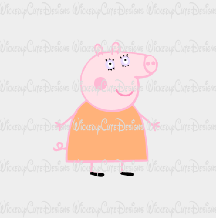 Mummy Pig SVG, DXF, EPS, PNG Digital File