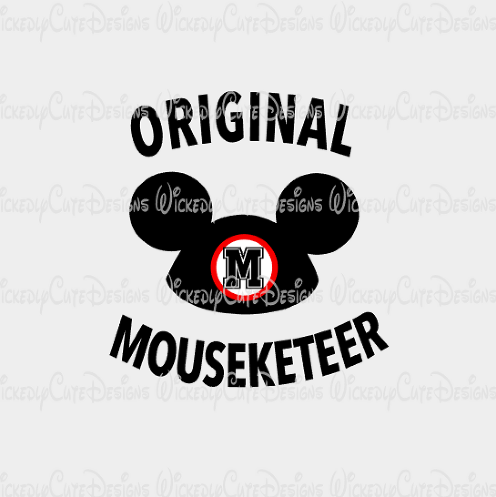Original Mouseketeer SVG, DXF, EPS, PNG Digital File