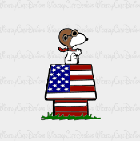 Patriotic Red Baron SVG, DXF, EPS, PNG Digital File