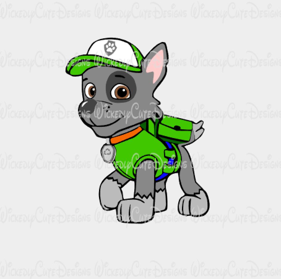 Rocky Paw Patrol SVG, DXF, EPS, PNG Digital File