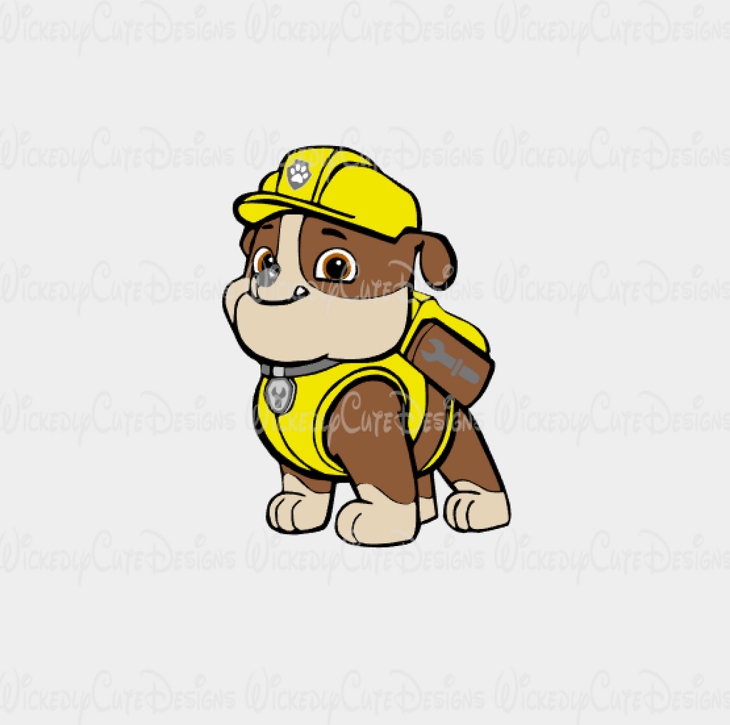 Rubble Paw Patrol SVG, DXF, EPS, PNG Digital File