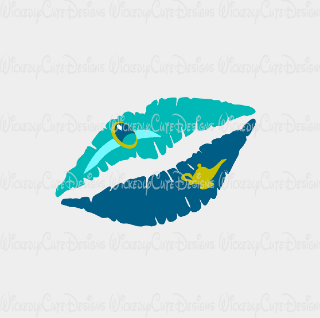 Princess Jasmine Lips SVG, DXF, EPS, PNG Digital File