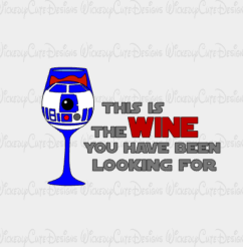R2D2 Wine Glass SVG, DXF, EPS, PNG Digital File