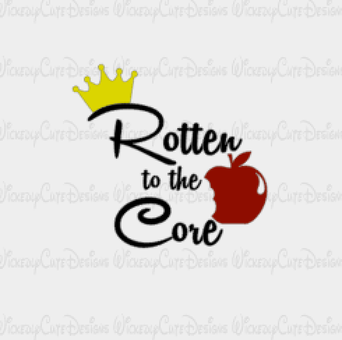 Rotten To The Core SVG, DXF, EPS, PNG Digital File
