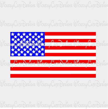 American Flag SVG, DXF, EPS, PNG Digital File