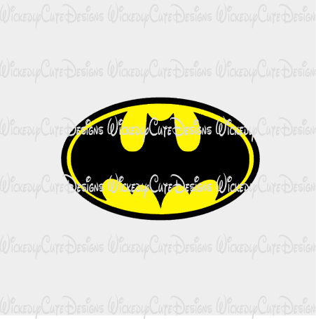 Bat Symbol SVG, DXF, EPS, PNG Digital File