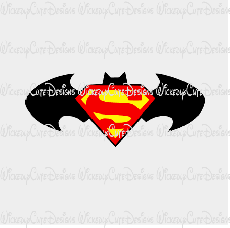 Batman Superman Logo SVG, DXF, EPS, PNG Digital File