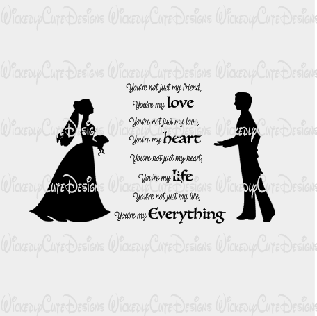 Bride and Groom 2 SVG, DXF, EPS, PNG Digital File